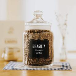 Zrnková čerstvě pražená káva arabica Brazilia Cerrado Santos