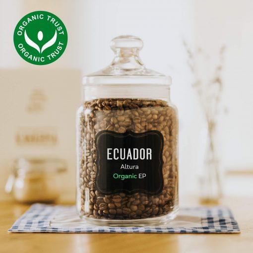Zrnková čerstvě pražená káva arabica Ekvádor Altura organic (bio)