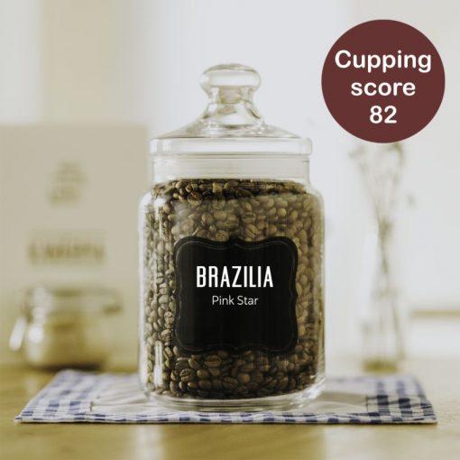 čerstvě pražená káva Brazilia Pink Star